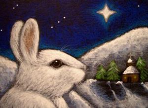 Detail Image for art SNOW HOLIDAY BUNNY RABBIT - BELEN STAR