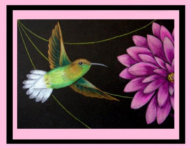Art: Coppery-headed Emerald Hummingbird (SOLD) by Artist Cyra R. Cancel