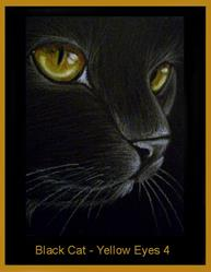 Art: Black Cat - Yellow Eyes 4 by Cyra R. Cancel