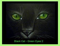 Art: Black Cat - Green Eyes 2 by Cyra R. Cancel