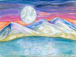 Art: Lake Lahaton, Nevada by Artist Lisa Morgan