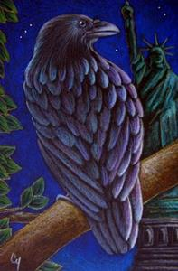 Detail Image for art RAVEN CROW 47 - STATUE OF LIBERTY