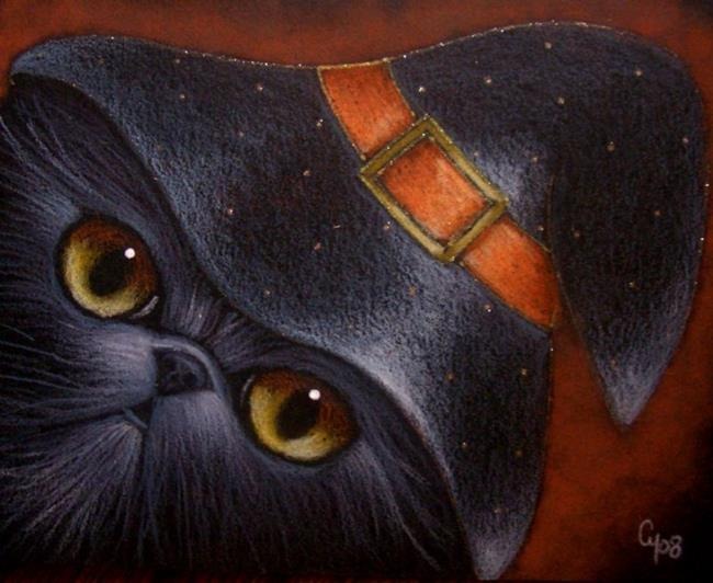 Black Persian Cat Halloween Witch Hat 3 By Cyra R