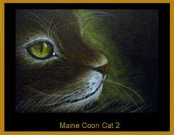 Art: Maine Coon Cat  2 by Cyra R. Cancel