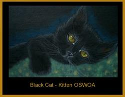 Art: Black Cat - Kitten OSWOA by Cyra R. Cancel