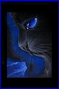 Detail Image for art BLACK CAT - LAPIS LAZULI