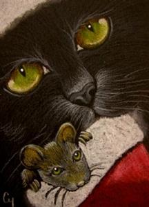 Detail Image for art BLACK CAT 54 - HOLIDAY