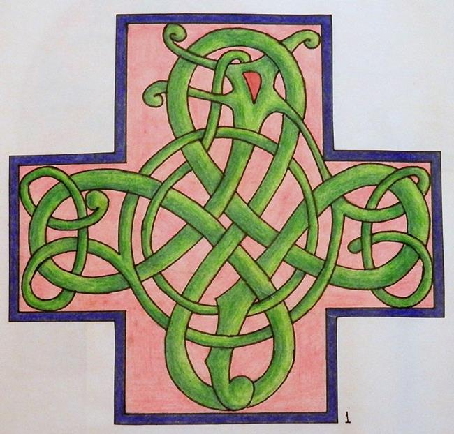 Art: Celtic cross by Artist Jane Gould