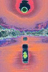 Art: Sunset 2099 by Artist Susan Frank