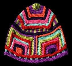Art: Funky Knitted Hat by Artist Amanda Hone