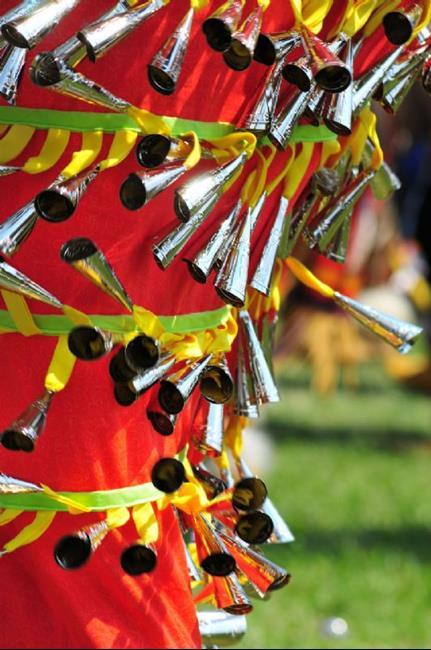 Art: Powwow Jingle Dress In Motion by Artist Stephanie M. Daigle