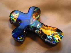 Art: Little Cross with Hope Charm by Artist Drita Harris