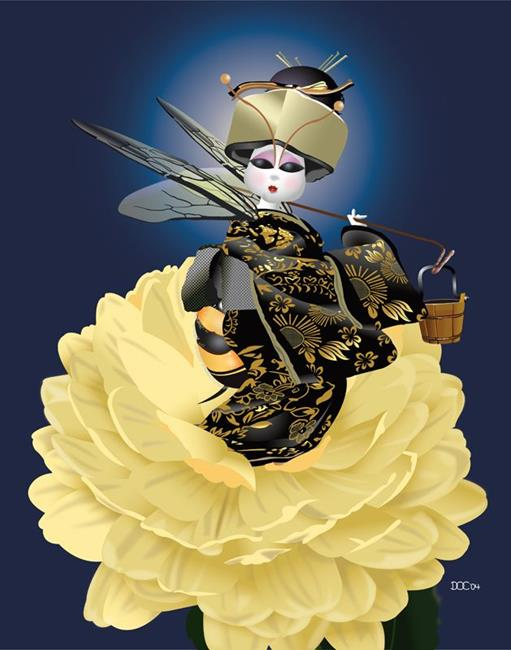 Art: DocWork Designs B's Series Akiko  by Artist Martha Di Giovanni