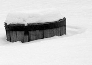 Detail Image for art whiskey barrel snowscape