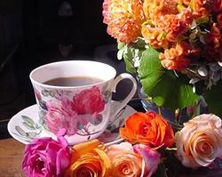 Art: RCC (Roses, Coffee and China) by Artist Erika Nelson