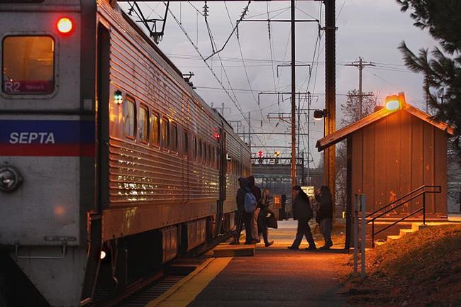 Art: morning train by Artist W. Kevin Murray