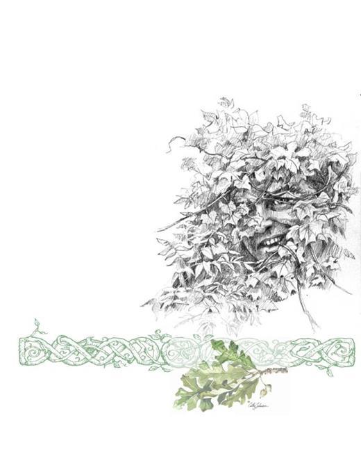 Art: My Own True Greenman by Artist Cathy  (Kate) Johnson