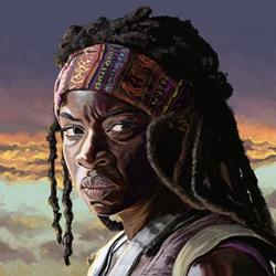 Art: Michonne by Artist Mark Satchwill