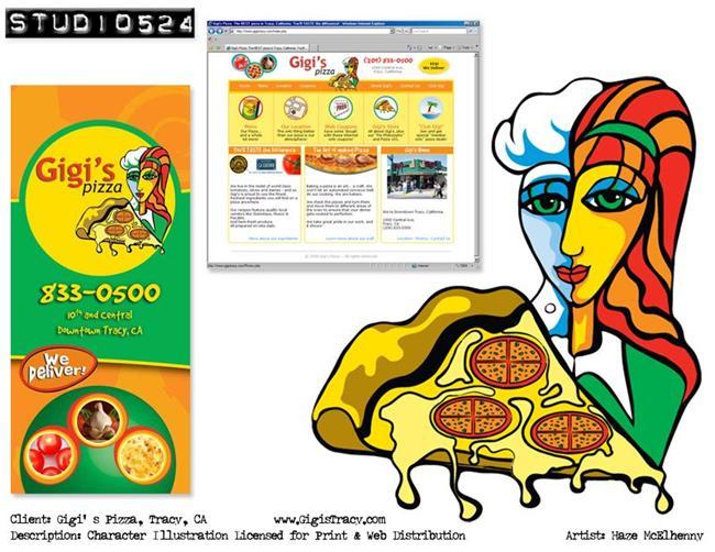 Art: Character Illustration: Gigi's Pizza by Artist studio524