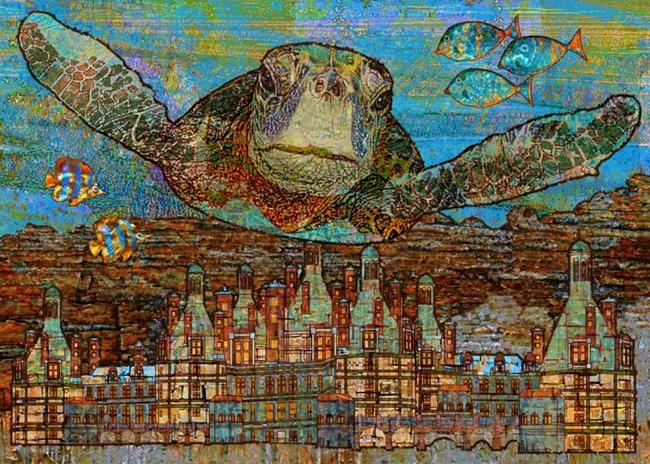 Art: Sea Turtle by Artist Mary Ogle