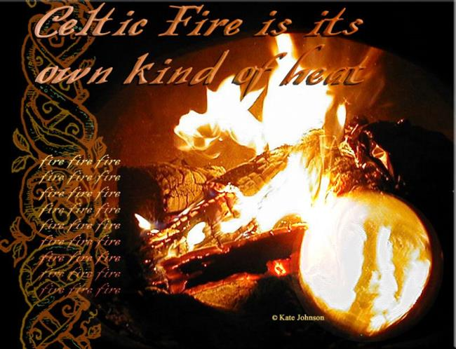 Art: Celtic Fire by Artist Cathy  (Kate) Johnson