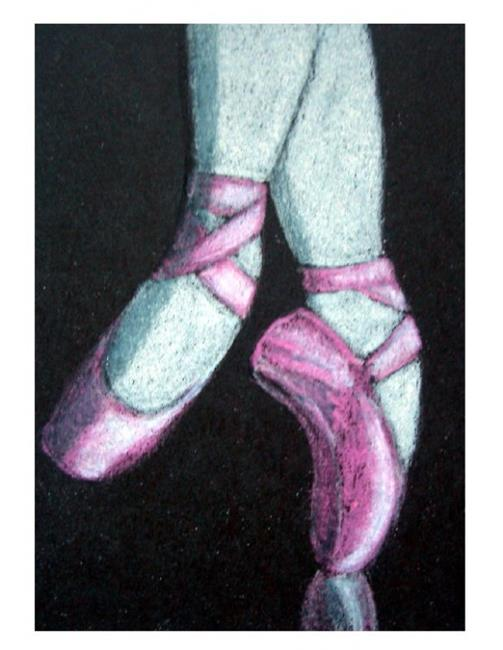 Art: Ballet Pointe Shoes 2 (SOLD) by Artist Cyra R. Cancel