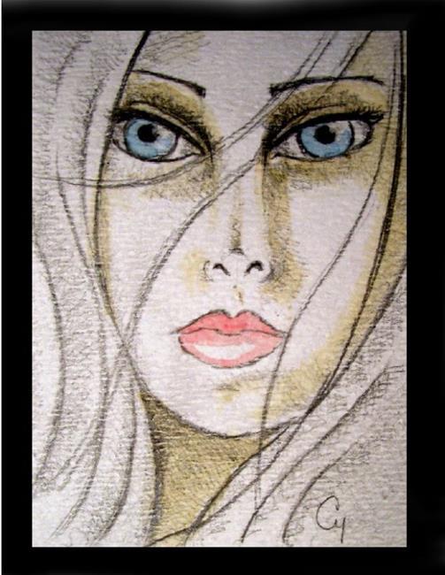 Art: Face 6 (SOLD) by Artist Cyra R. Cancel