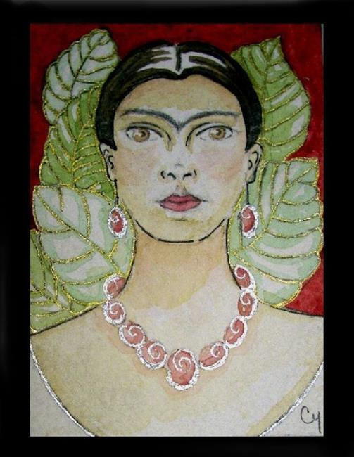 Art: Frida Kahlo 3 (In Her Memory) (SOLD) by Artist Cyra R. Cancel