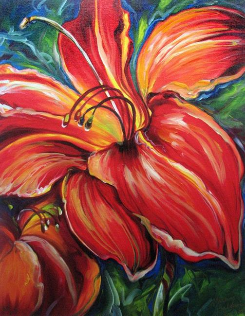 Art: BELOVED RED LILY GICLEE PRINT by Artist Marcia Baldwin