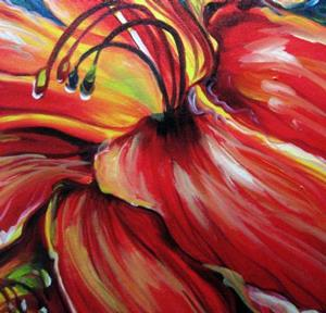 Detail Image for art BELOVED RED LILY GICLEE PRINT