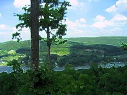 Art: Deep Creek Landscape by Artist Bob Gillingham