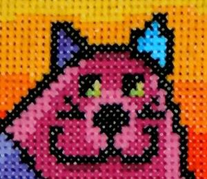 Detail Image for art Funky Hippy Cat