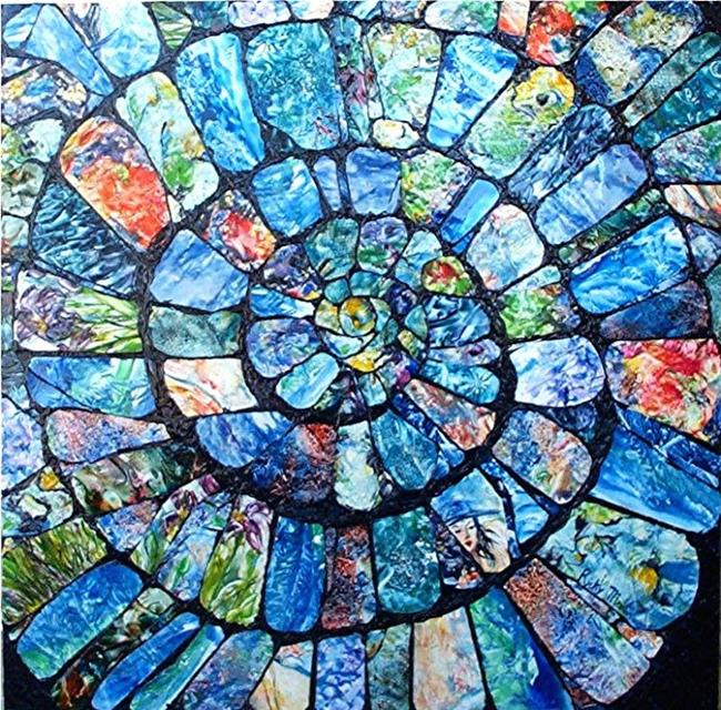 Art:  Ammonite Collage by Artist Ulrike 'Ricky' Martin