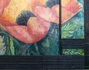 Detail Image for art Encaustic Poppies