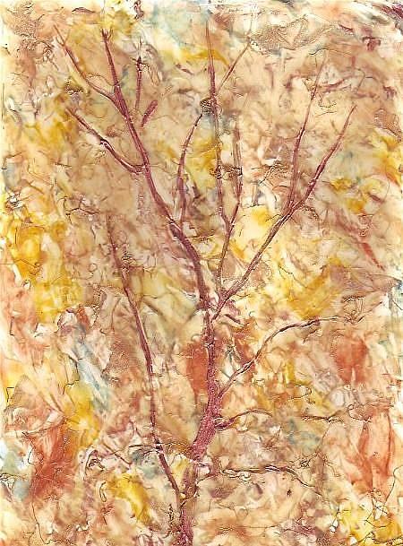 Art: Abstract Fall Tree by Artist Ulrike 'Ricky' Martin