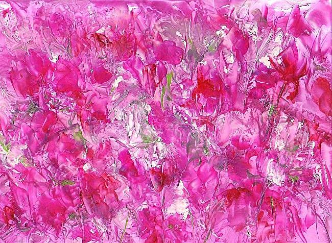 Art: Abstract Pink Floral by Artist Ulrike 'Ricky' Martin