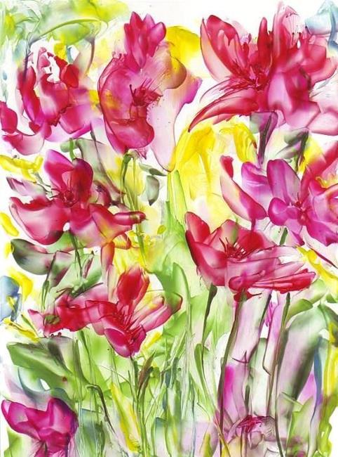 Art: Abstract Flowers by Artist Ulrike 'Ricky' Martin