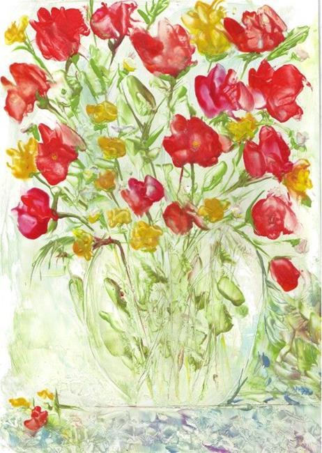 Art: Flower Bouquet  by Artist Ulrike 'Ricky' Martin