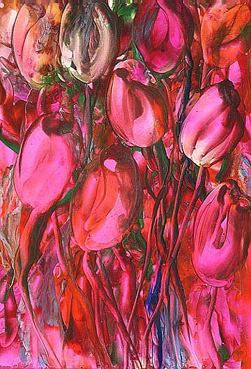Art: Red Tulips  by Artist Ulrike 'Ricky' Martin