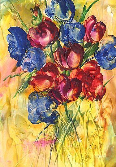 Art: Spring Flowers by Artist Ulrike 'Ricky' Martin