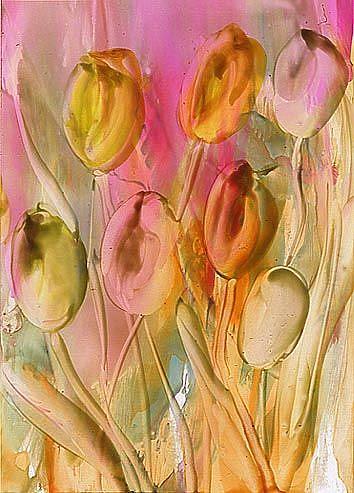 Art: Tulips # 11 by Artist Ulrike 'Ricky' Martin