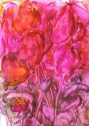 Art: Encaustic Floral # 25  by Artist Ulrike 'Ricky' Martin