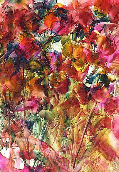 Art: Abstract Iris by Artist Ulrike 'Ricky' Martin