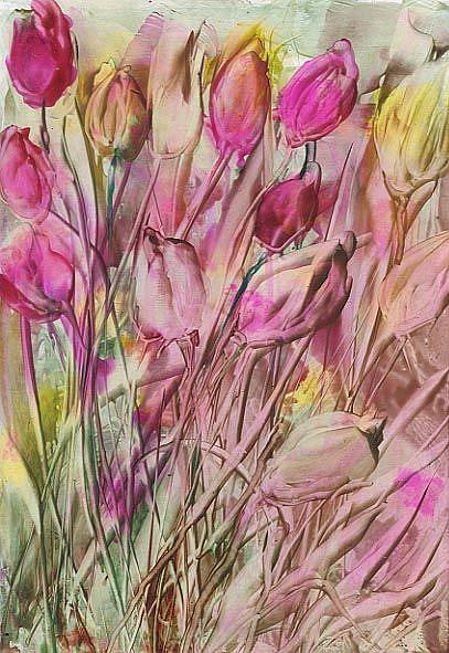 Art: aBSTRACT fLORAL # 7 by Artist Ulrike 'Ricky' Martin