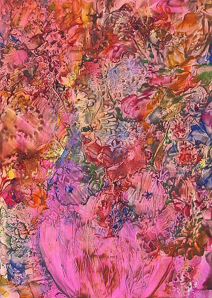 Art: Abstract  Bouquet - sold by Artist Ulrike 'Ricky' Martin