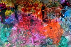 Art: Abstract Encaustic 4 by Artist Amanda Hone