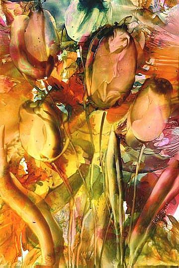Art: Sun Kissed Tulips by Artist Ulrike 'Ricky' Martin