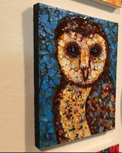 Detail Image for art Barn Owl - SOLD