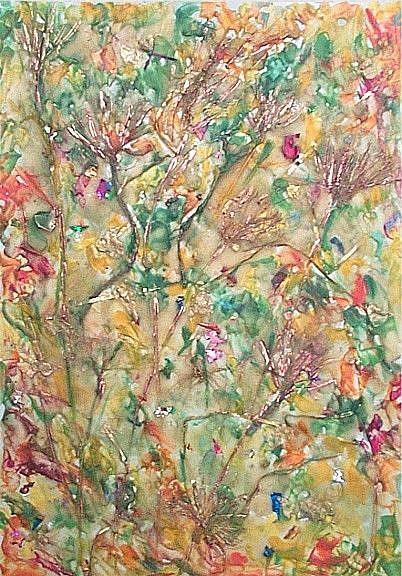 Art: Autumn Abstract  by Artist Ulrike 'Ricky' Martin
