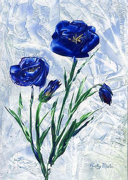 Art: Blue Poppies by Artist Ulrike 'Ricky' Martin